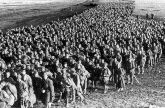 Советские солдаты в плену под Харьковым