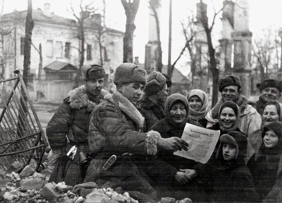 Новость об освобождении Ленинграда