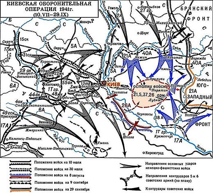 Карта в битве за Киев