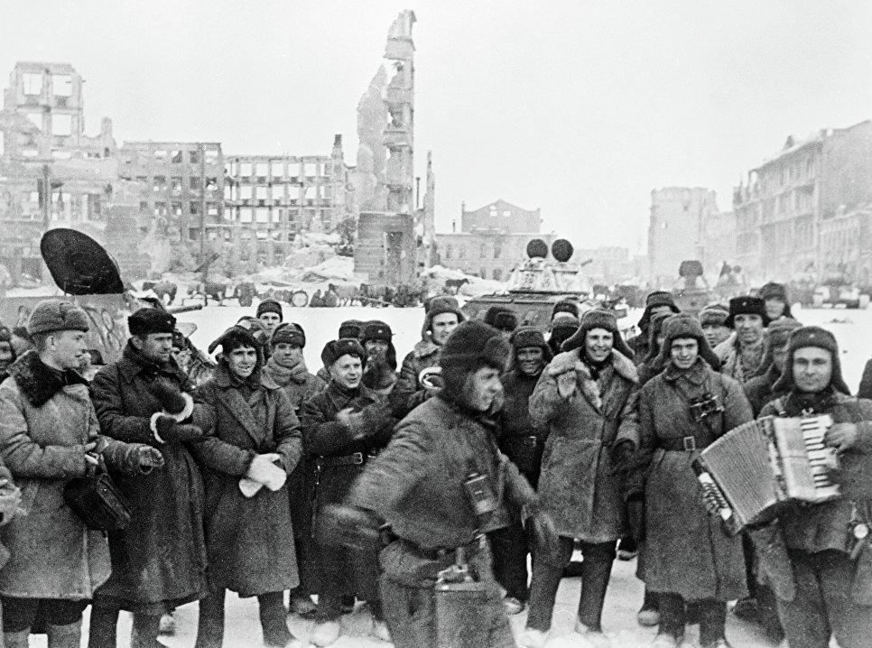 Советские войска в Сталинграде