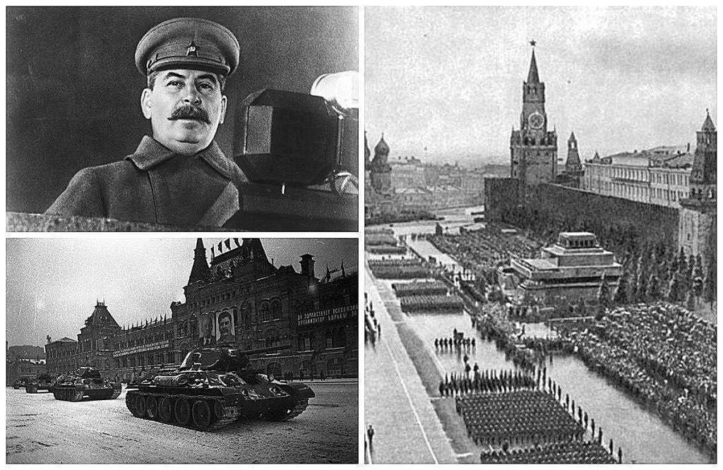 Выступление Иосифа Сталина на Красной площади