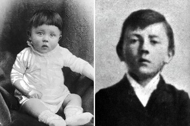 Детские фото Адольфа Гитлера