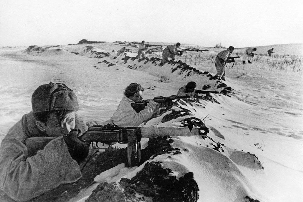Советские войска в битве под Москвой
