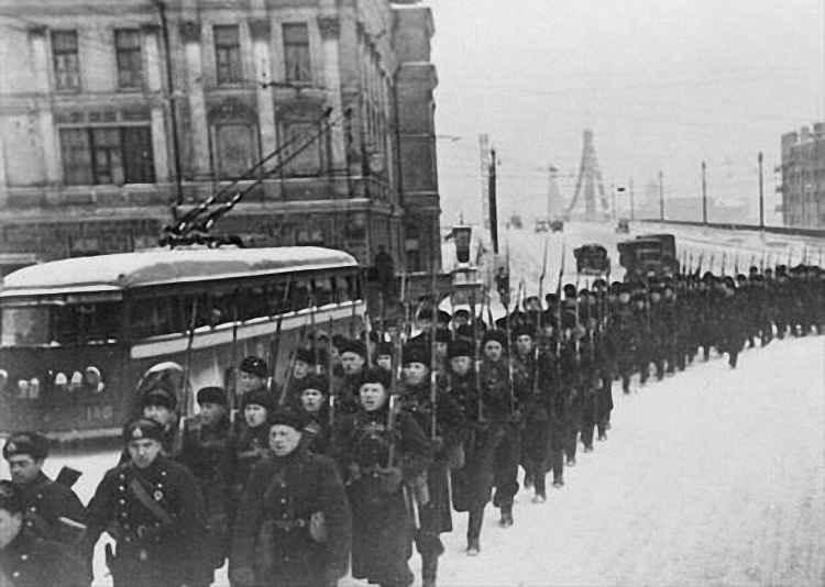 Битва под Москвой между вермахтом и красной армией