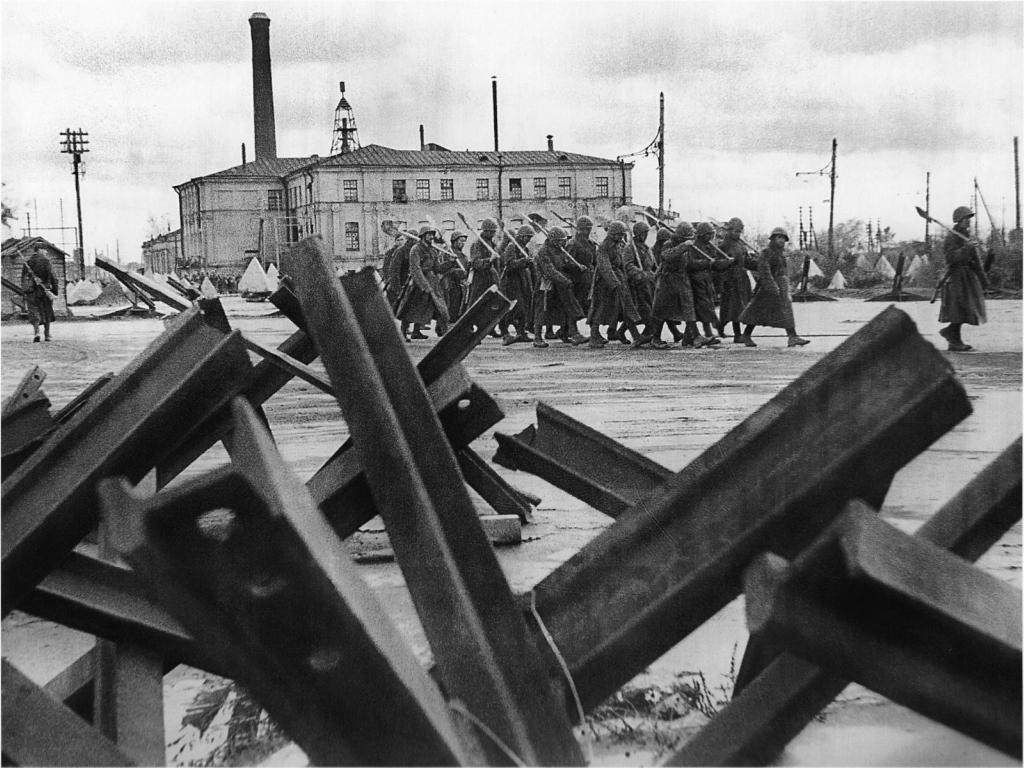 Советские войска на освобождении Ленинграда от Блокады