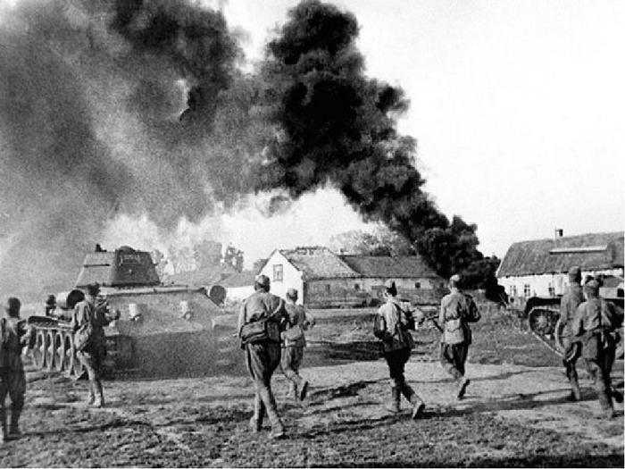 Донбасс во времена войны в 1943 году