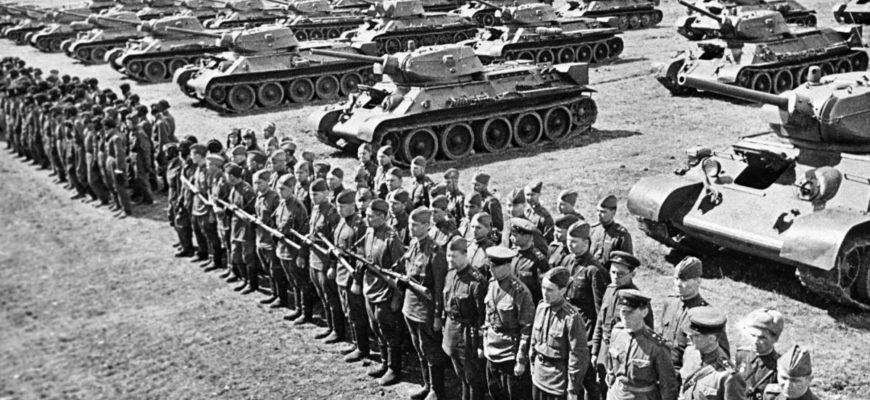 Армия солдат перед началом боя
