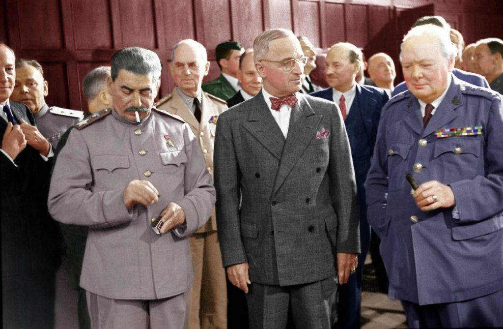 На одном фото Сталин, Трумен, Черчилль