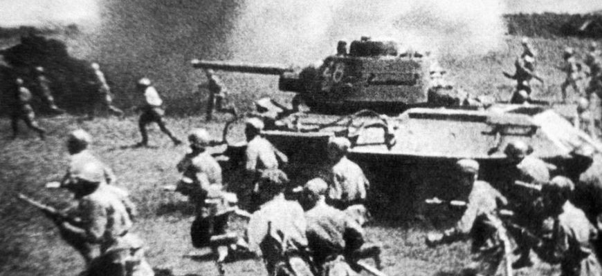 Разгар Курской битвы в 1943 году