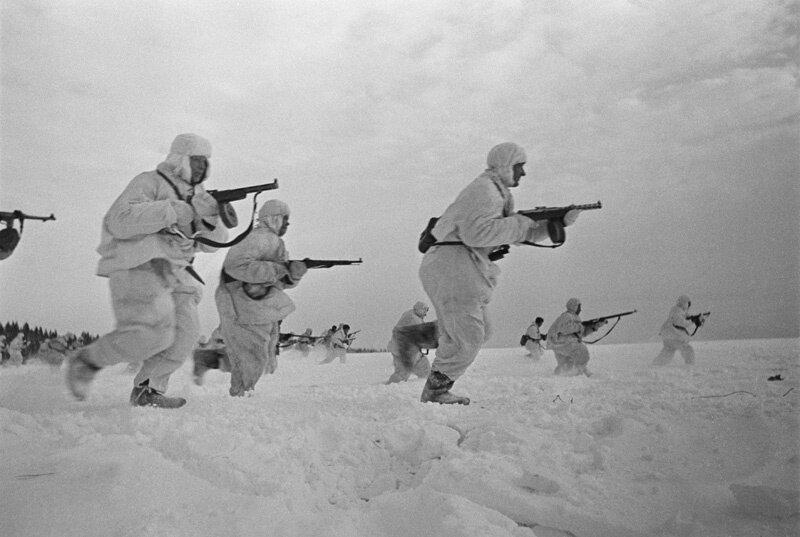 Фото в разгар Московской битвы