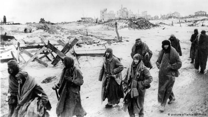 Немцы в советском плену под Сталинградом