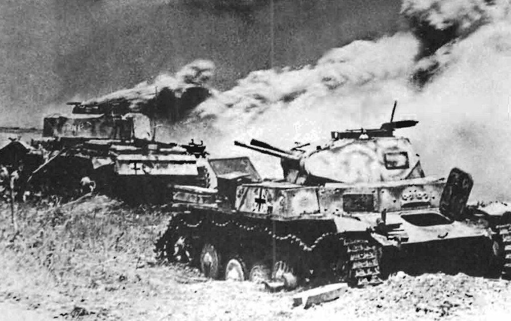 Побитые танки немцев