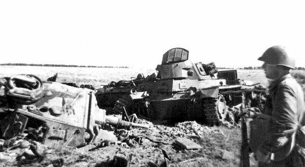 Подбитые танки немцев