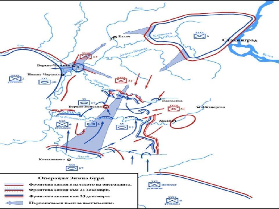 Карта по освобождению шестой полевой армии