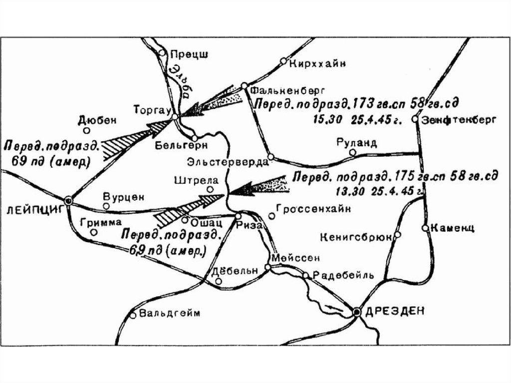 План карты встречи на Эльбе