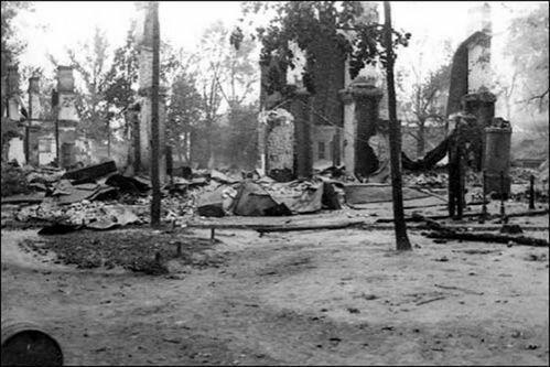 Разрушенный город Могилев