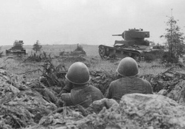 Войска Красной Армии в засаде