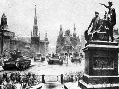 Советские солдаты на Красной площади