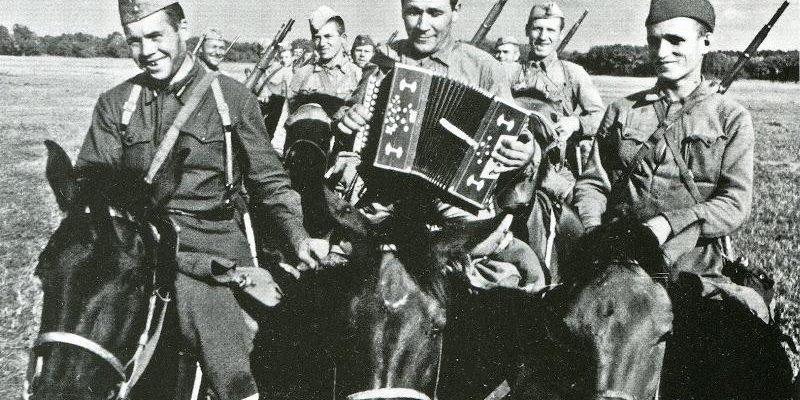 Кавалеристы во время Гражданской войны