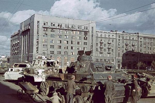 Фото немецких танков на улицах города