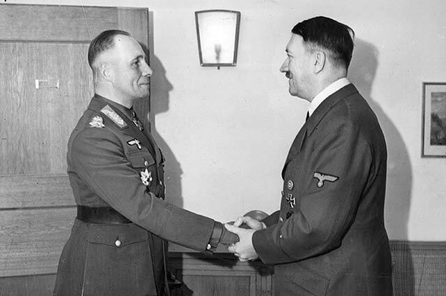Гитлер и Роммель на одном фото
