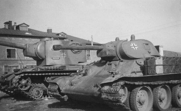 Образцы КВ-2 и Т-34-76