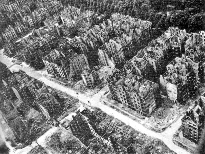 Разрушенный Гамбург