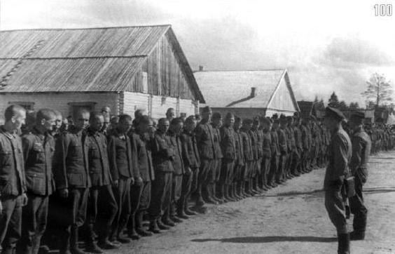 Взятие в плен офицеров и солдат Вермахта в сентябре 1941 года