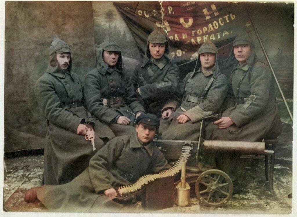 Бойцы Красной Армии в 1920 году