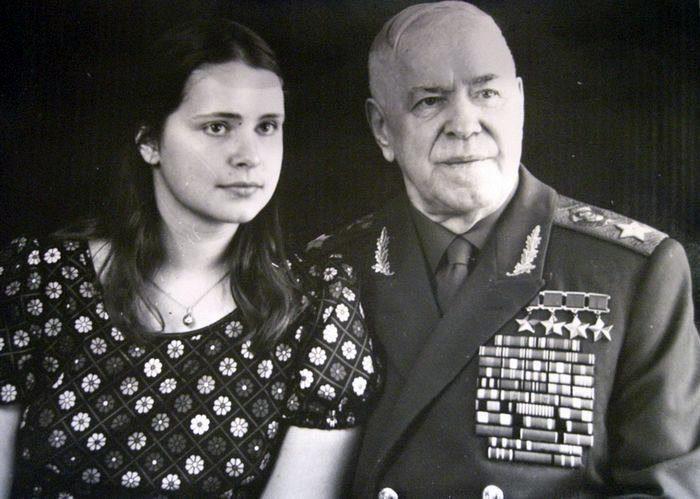 Маршал Жуков и дочь Мария