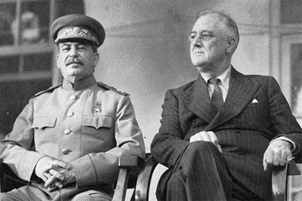 Сталин и Рузвельт на одном фото