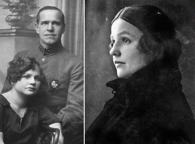 Портрет Жукова и его жены Александры Зуйковой
