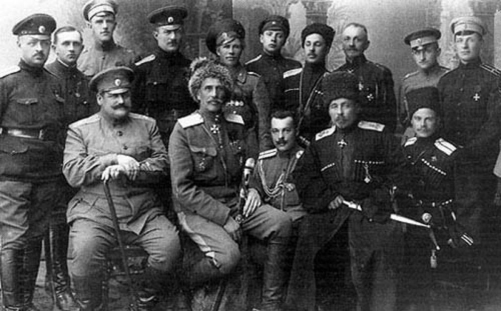 Совместное фото офицеров Царской Армии