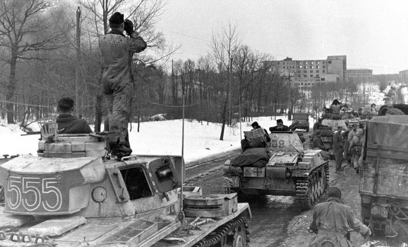 Колонна танков Вермахта