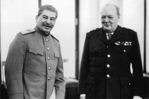 Фото Сталина и Черчилля со времен Второй Мировой