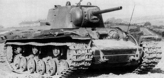 Образец танка КВ-1, участвовавший в Курской битве