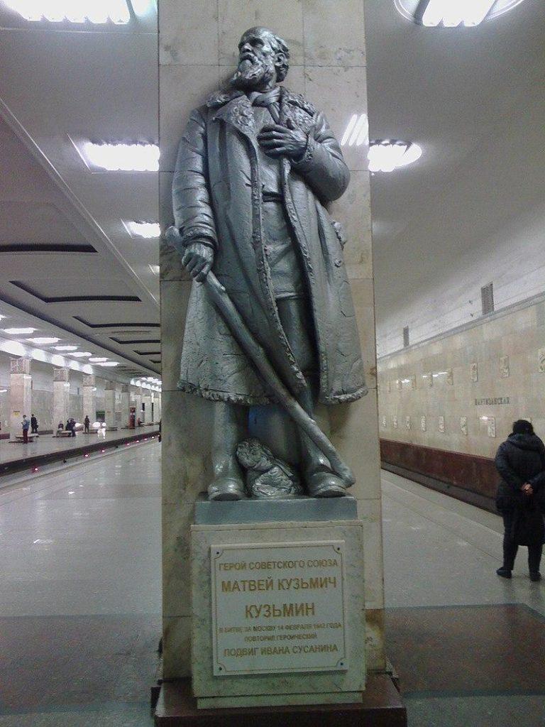 Памятник в честь героя СССР Кузьмина Матвея