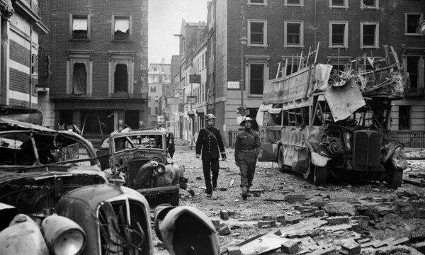 Лондон после бомбардировки