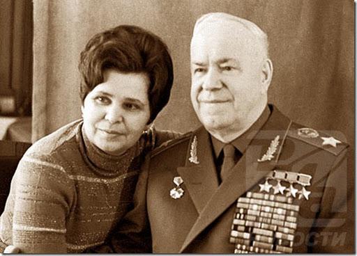 Георгий Жуков и жена Галина Семенова