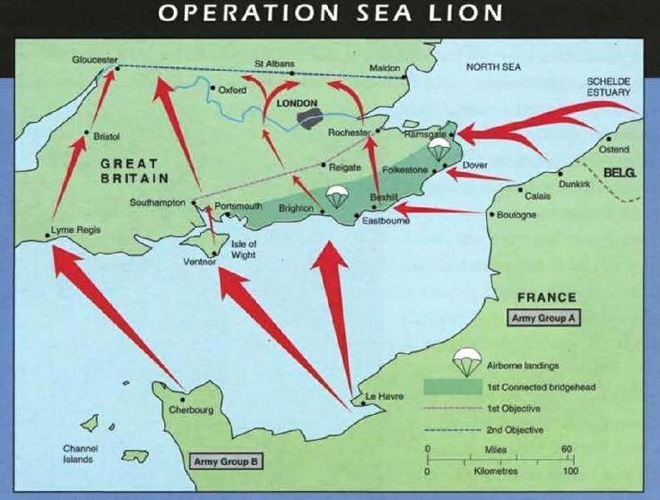 """План операции """"Морской лев"""""""