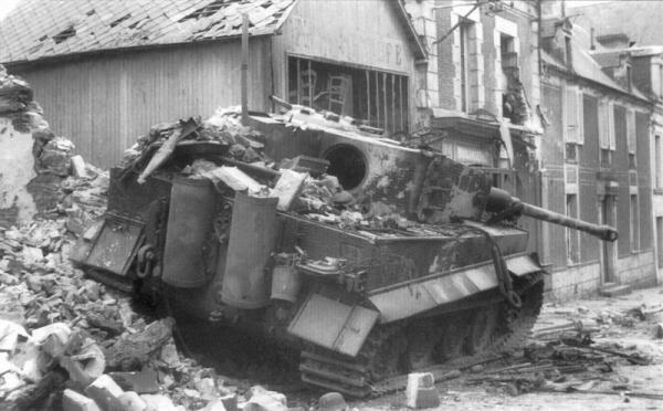 Танк Тигр Т-6 в Нормандии