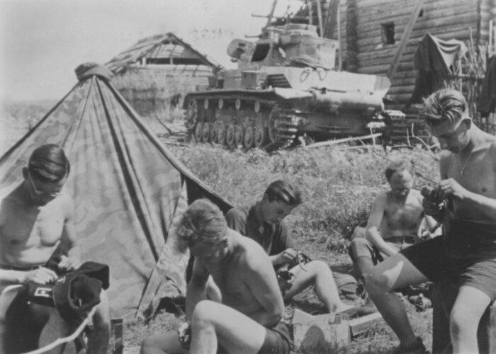 Будни немецких солдат на фронте