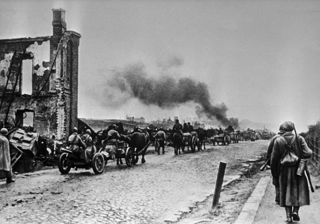 Дорога в город Ельня в 1941 году