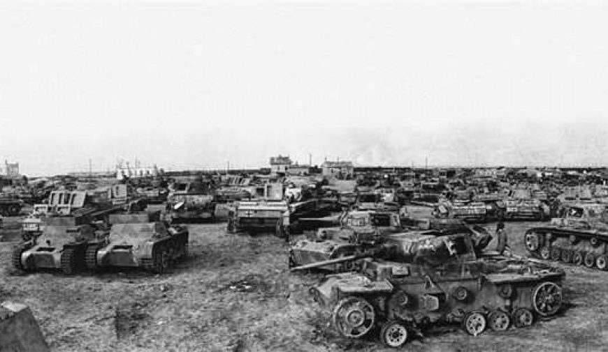 Подбитая немецкая бронетехника