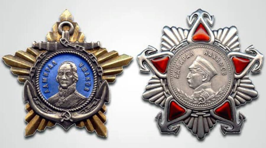 Так выглядели ордена Ушакова и Нахимова