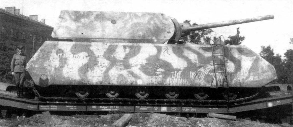 """Собранный танк """"Маус"""" из двух прототипов"""