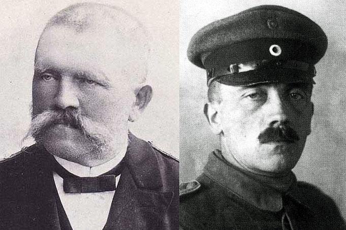 Портрет Адольфа Гитлера и его отца Алоиза Гитлера