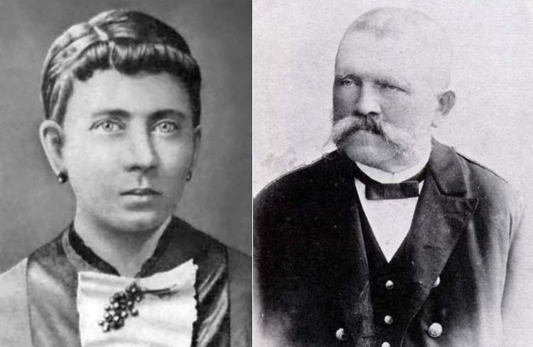 Портрет Клары и Алоиз Гитлер