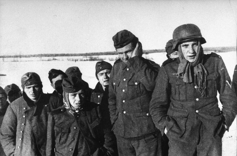 Немецкие пленные солдаты под Москвой