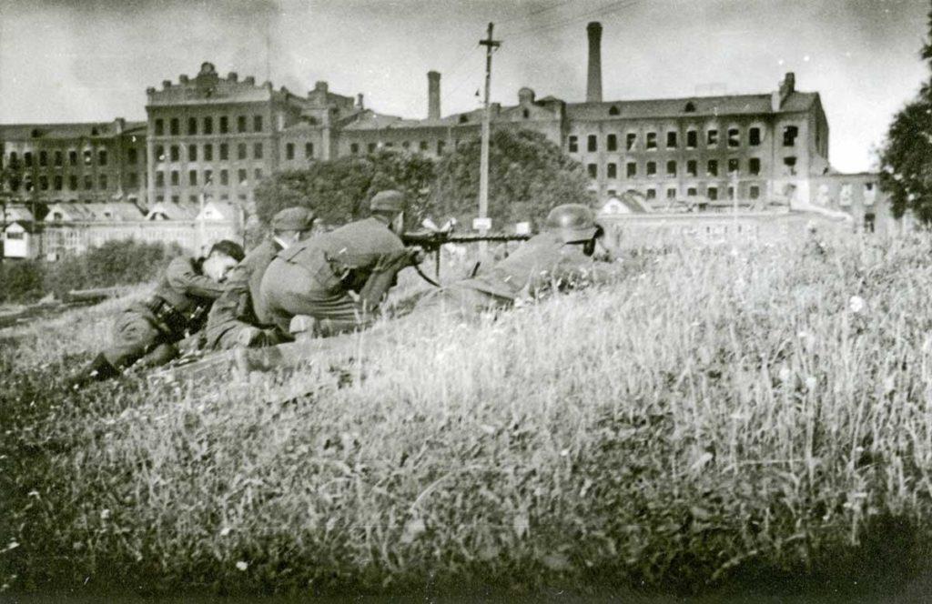 Немецкие войска в г. Ярцево Смоленской области